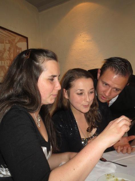Kari Anna, Jacqueline and Per Egil singing.