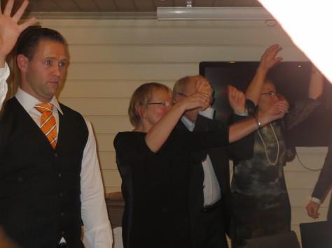 Per Egil showing off his moves.