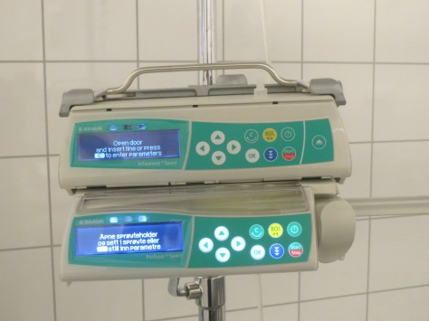 Infusion pump and syringe driver.