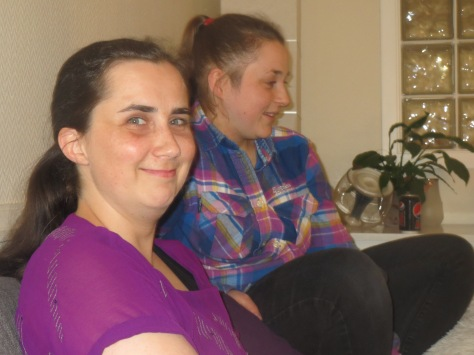 The nursing team: Kari-Anna and Jacqueline